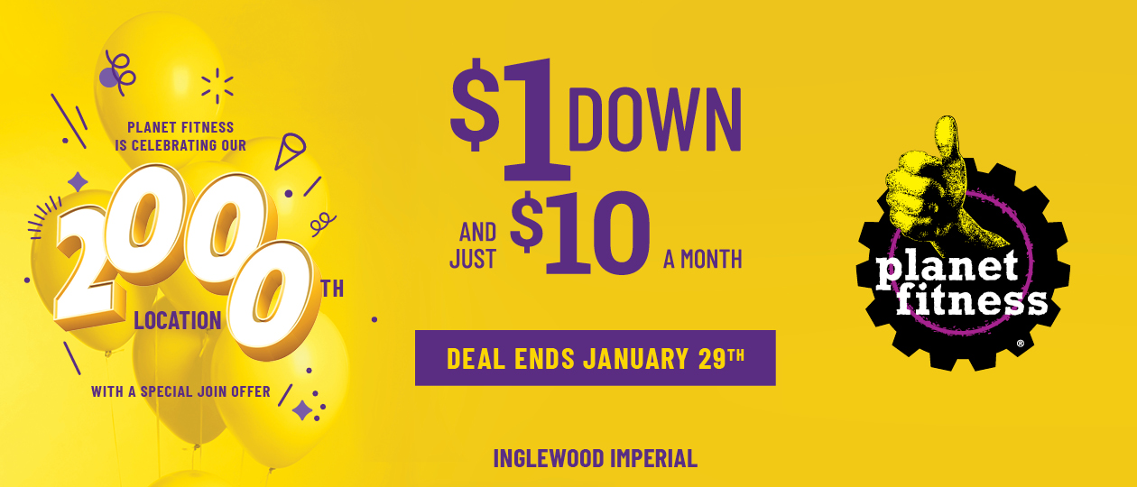 Crenshaw Planet Fitness $1 Down $10 per month offer